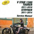 2011-2017 Yamaha V-Star 1300 / Tourer / Stryker Service Repair Manual CD