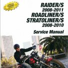 2008-2011 Yamaha XV1900 Raider Roadliner Stratoliner 1900 Service Repair Manual on a CD