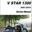 2007-2010 Yamaha XVS13 V-Star 1300 Service Repair Manual on a CD