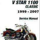 1999-2007 Yamaha XVS1100 V-Star 1100 Service Repair & Owners Manual on a CD