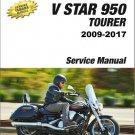 2009-2017 Yamaha XVS95 V-Star 950 / Tourer Service Repair Manual CD