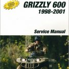 1898-2001 Yamaha YFM600 Grizzly 600 ATV Service Repair Manual CD .. YFM 600