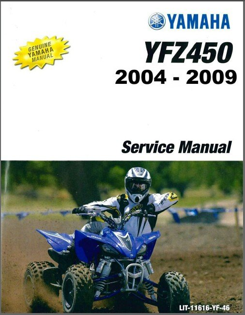 2004-2009 Yamaha YFZ450 ( YFZ450S ) ATV Service Repair Manual CD - English & French