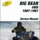 1987-1998 Yamaha YFM350 Big Bear 350 ATV Service Repair Manual CD - YFM350FW