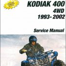 1993-2002 Yamaha YFM400 Kodiak 400 ATV Service Repair Manual CD - YFM400FW
