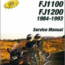 1984-1993 Yamaha FJ1100 FJ1200 Service Repair & Parts Manual on a CD