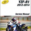 2012-2014 YAMAHA YZF-R1 Service Repair Manual on a CD