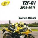2009-2011 YAMAHA YZF-R1 Service Repair Manual on a CD