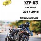 2017-2018 Yamaha YZF-R3 ( ABS Models ) Service Repair Manual CD