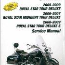 2005-2009 Yamaha Royal Star Tour Deluxe Service Repair Manual on a CD
