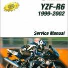 1999-2002 YAMAHA YZF-R6 Service , Repair Manual on a CD