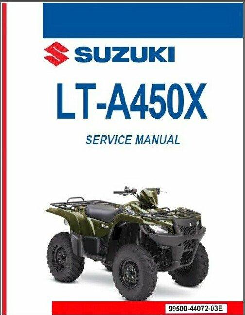 2007-2009 Suzuki LT-A450X KingQuad AXi 450 4x4 ATV Service Repair Manual CD