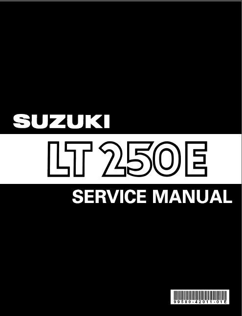 1985-1986 Suzuki LT250E ( LT 250 E )QuadRunner Service Manual on a CD