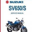 2003-2009 Suzuki SV650 / SV650S Service Repair Shop Manual CD - - SV 650 S 650S