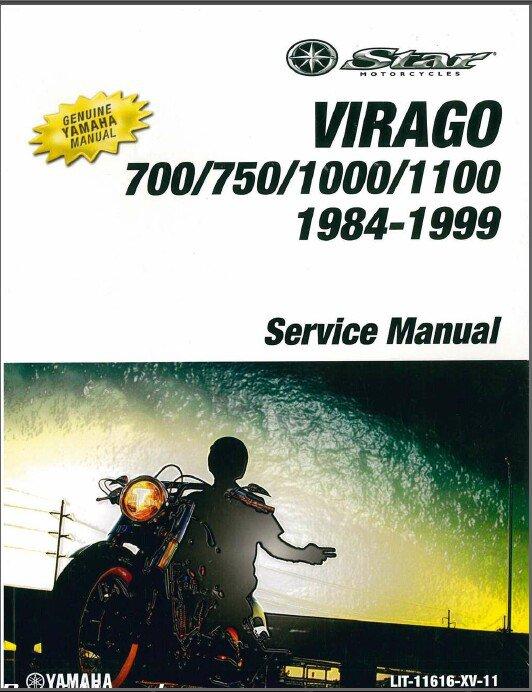 1984-1999 Yamaha XV700 XV750 XV1000 XV1100 Virago Service Repair Manual CD