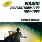 1984-1999 Yamaha XV700 XV750 XV1000 XV1100 Virago Service Repair Manual CD