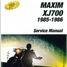 1985-1986 Yamaha XJ700 Maxim / XJ700X Maxim X 700 Service Repair Manual on a CD