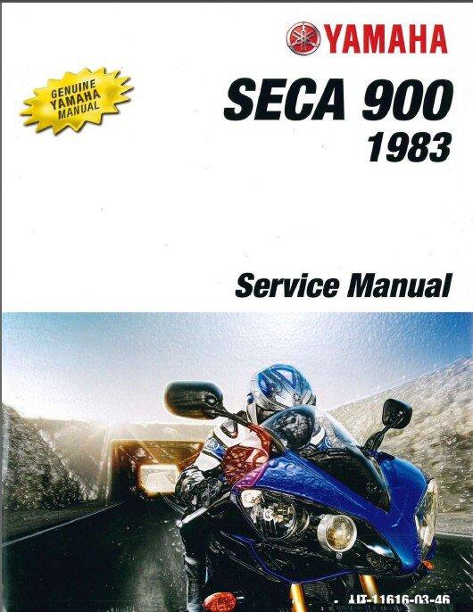 1983-1984 Yamaha XJ900 Seca 900 Service Repair Manual CD . .  XJ900RK