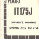 1977-1983 Yamaha IT175 Service Repair Workshop & Parts Manual CD . . IT 175