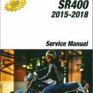 2015-2018 Yamaha SR400  ( SR 400 ) Service Repair Manual CD