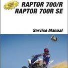 2015-2020 Yamaha Raptor 700 / 700R / 700 R SE ATV Service Repair Manual on a CD