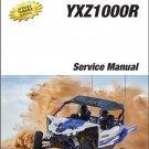2016-2017 Yamaha YXZ1000R SxS Service Repair Manual on a CD