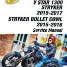 2015 - 2017 Yamaha V-Star XVS1300 / Stryker Bullet Cowl Service Repair Manual CD