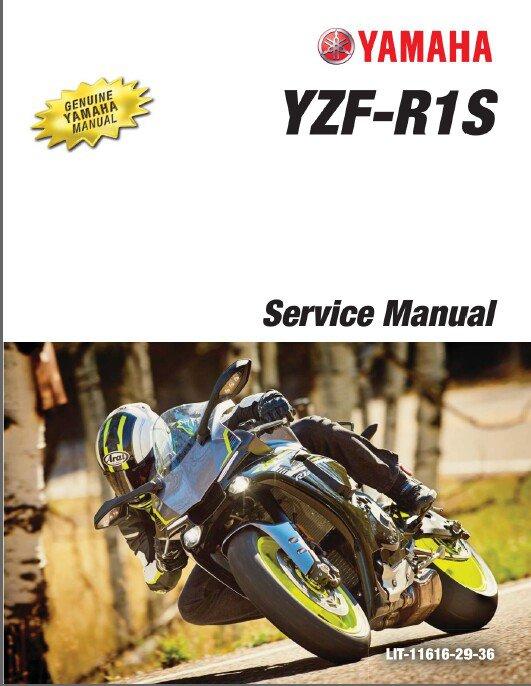 2016 - 2017 Yamaha YZF-R1S Service Repair Manual on a CD