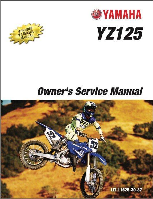 2017 Yamaha YZ125 Qwner's Service Repair Manual on a CD  ---   YZ 125