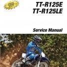 2011-2018 Yamaha TT-R125E / TT-R125LE Service Repair Manual on a CD - TTR125E LE