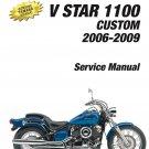 2006-2009 Yamaha XVS1100 V-Star 1100 Custom Service Repair Manual on a CD