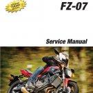 2016-2017 Yamaha FZ-07 700 Service Repair Manual on a CD    ---   FZ07  FZ7