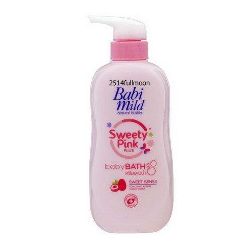 500 ml. Babi Mild Sweety Pink Plus Moisturizing Bath Shower Cream