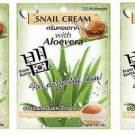 3 pcs. 10g.Fuji Snail Face Cream With Aloe Vera Anti-Ageing Wrinkles Scars
