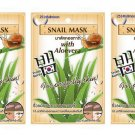 3X 10g. Fuji Snail Face Mask Anti-Aging Damage and Restore Skin Care Unisex