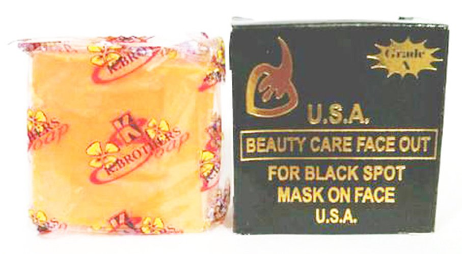 6 x 50 g. K. Brothers USA Beauty Care Face Out For Black Spot Whitening Bar Soap