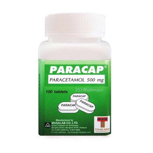 100 Tablets Paracap Paracetamol 500 mg. Pain Relief Fever, Headache Reduce