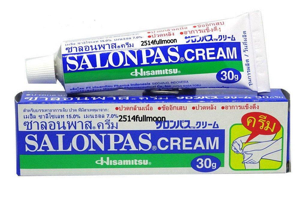 30 g. SALONPAS Cream Pain Relief Muscle Neck Fatigue Sprain Strain  Backache