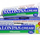 30 g. SALONPAS Cream Pain Relief Muscle Neck Fatigue Sprain Strain  Backache