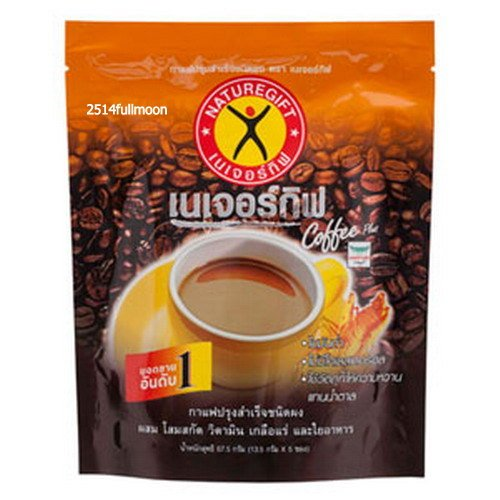 1 Pack 5 Sachets Naturegift Instant Coffee Plus With Fiber,Ginseng Extract Vitamin