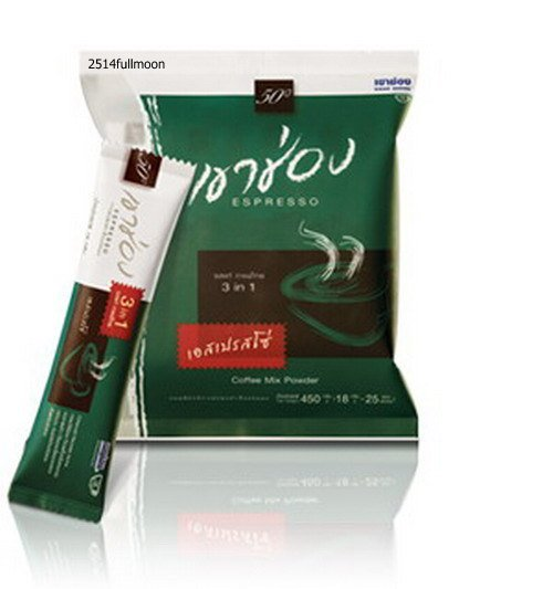 450 g. (18 g.x 25 Sachets) Khao Shong ESPRESSO 3 IN 1 Instand Coffee Mixed