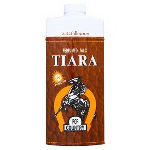 200 g. TIARA POP Country Perfumed Talc UV Protection Body Powder