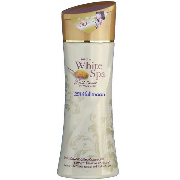 200 ml. Mistine White Spa Gold Caviar Extract UV protection Whitening Body Lotion