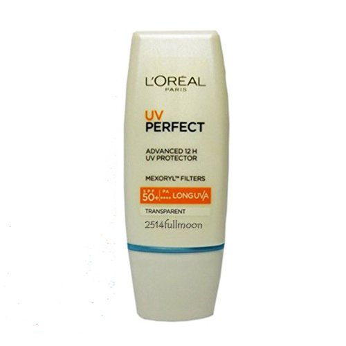 30 ml. L'oreal UV Perfect Longlasting Protector Transparent skin SPF 50 PA+++