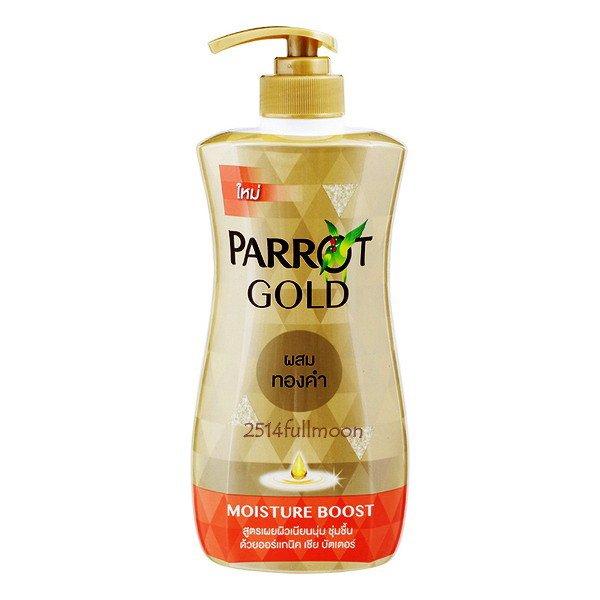 480 ml. PARROT GOLD Shower Cream Bath Body Wash Moisture Boost