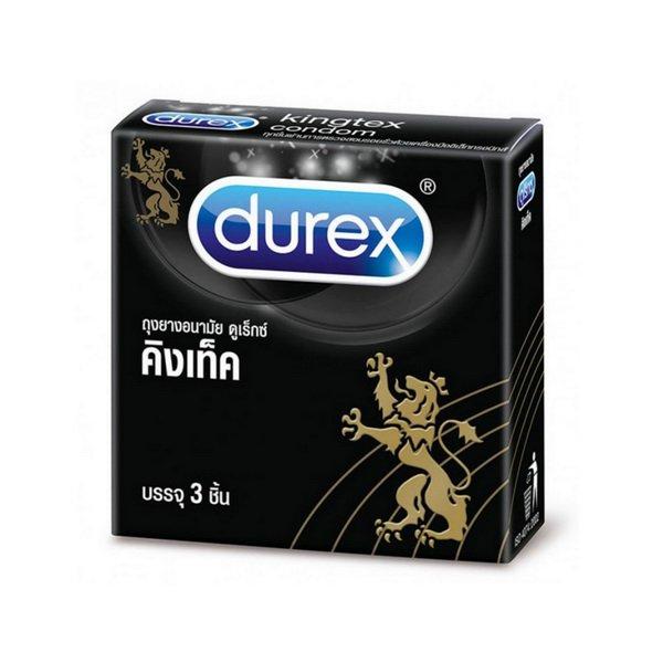 1 Box/3pcs. 49 mm. Durex Kingtex Smooth Condom Small Size Sexual Control Birth