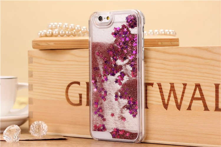 Pink liquid glitter iPhone 6 case