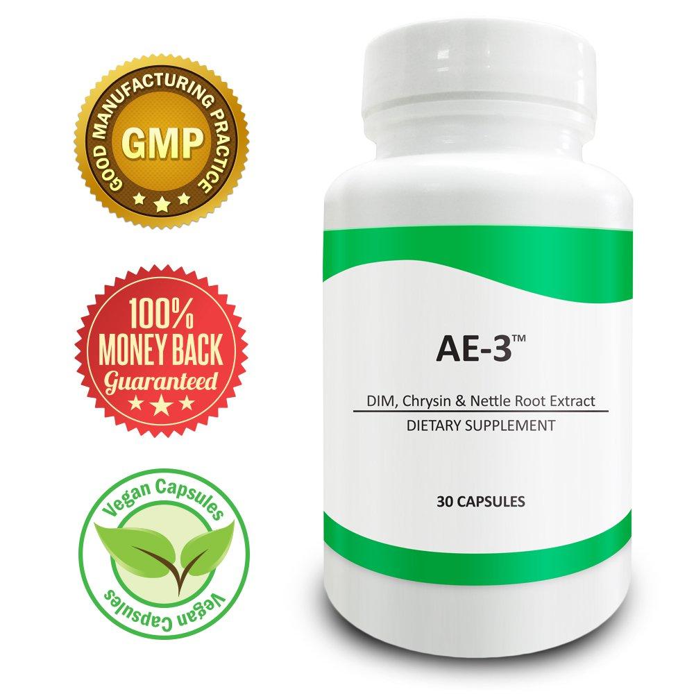 Pure Science AE-3 Chrysin, DIM & Stinging Nettle Root Extract - Estrogen Blocker