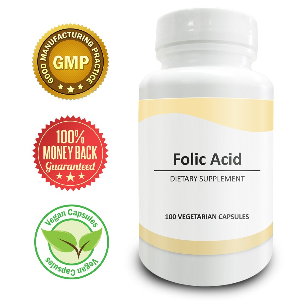 Pure Science Folic Acid 1000mcg - Daily Health Regimen & Prenatal Care for Women