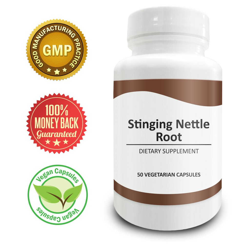 Pure Science Stinging Nettle Root 500mg - Increases Free Testosterone & Libido